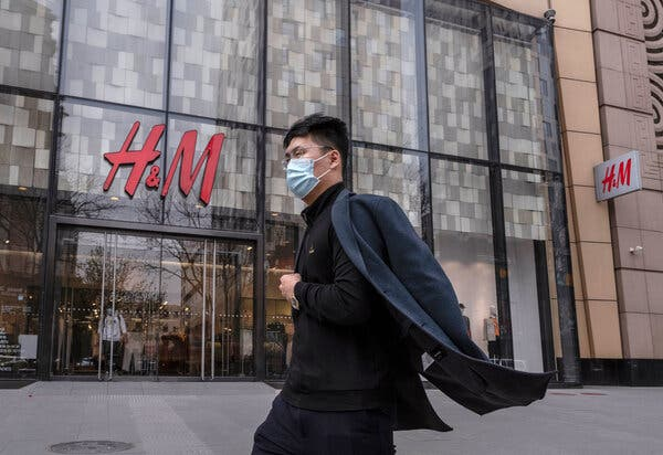 """An H&M store in Beijing. The retailer's chief executive, Helena Helmersson, said H&M had a """"long-term commitment"""" to China."""