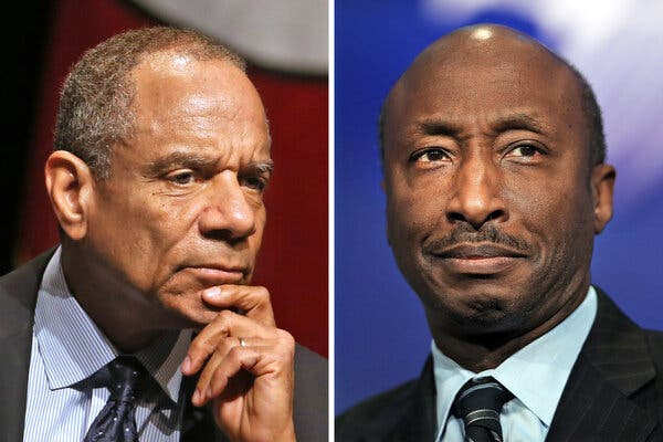 Kenneth Chenault, left, a former chief executive of American Express, and Kenneth Frazier, the chief executive of Merck, organized a letter signed by 72 Black business leaders.