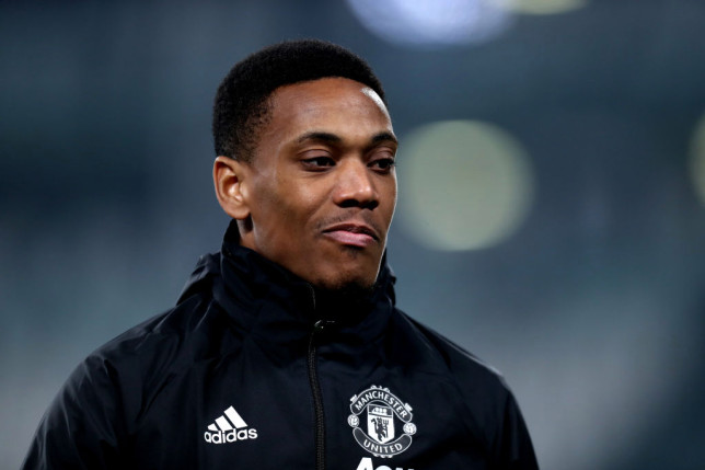 Anthony Martial has been ruled out of Manchester United's clash with Crystal Palace