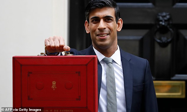 Chancellor Rishi Sunak outside number 11 Downing Street ahead of the Budget