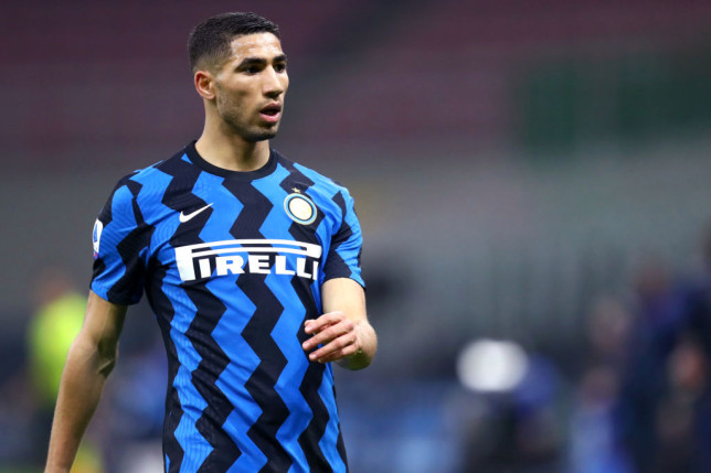 Achraf Hakimi of Fc Internazionale  looks on during the
