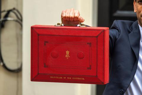 The red box held by Chancellor of the Exchequer, Rishi Sunak, outside number 11 Downing Street