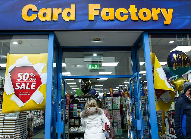 Struggling: Card Factorytends to make most of its sales in-store rather than online