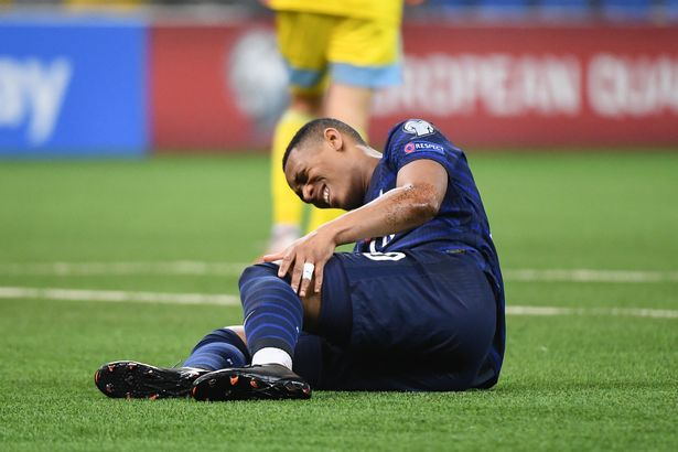 Anthony Martial was taken off for France after an injury scare
