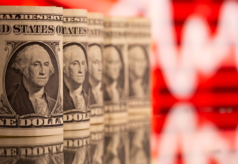 Dollar on defensive as risk sentiment recovers amid retreat in U.S. yields; Aussie gains