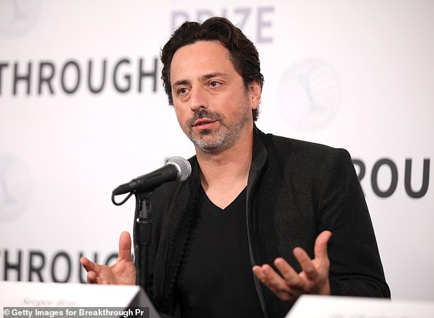 Google's co-founder Sergey Brin (pictured) is shifting his focus from technology to aviation, with plans to build the world's largest airship to assist disaster relief worldwide