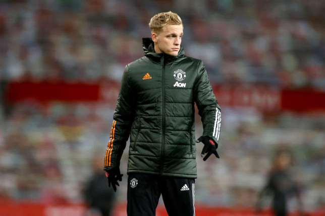 Van de Beek has started just twice in the Premier League since his arrival in the summer from Ajax