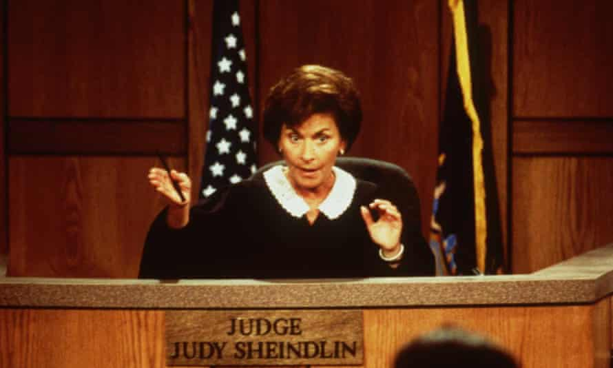 Sheindlin in her TV court in 1997: 'My motivating factor was always to try to do the right thing.'