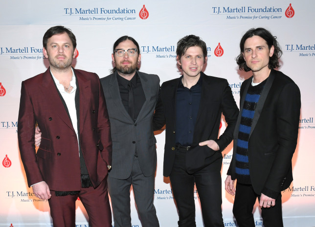 Kings of Leon on red carpet
