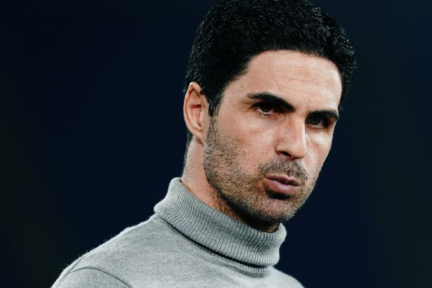 Mikel Arteta head coach of Arsenal during the UEFA Europa League Round of 32 match between SL Benfica and Arsenal FC at Stadio Olimpico on February 18, 2021 in Rome, Italy.