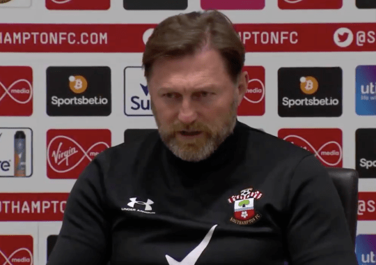 Ralph Hasenhuttl addresses the media ahead of Southampton's Premier League clash with Manchester City