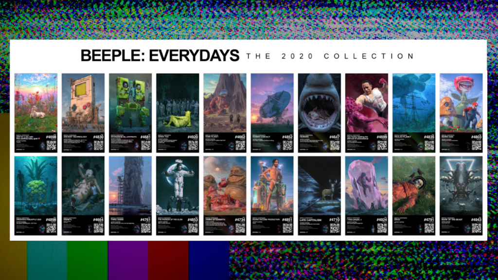 """Beeple's """"Beeple Everydays: The 2020 Collection."""" Courtesy of Metapurse."""