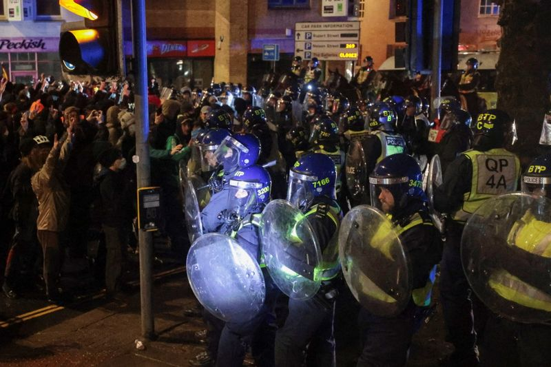 UK PM Johnson criticises 'disgraceful' attacks on police at protest