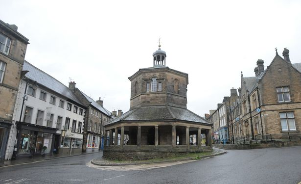 The Market Town of Barnard Castle in County Durham