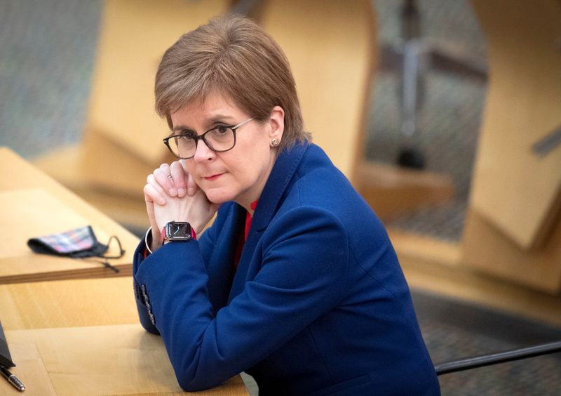 Under pressure, Scotland's Sturgeon defends handling of predecessor's case