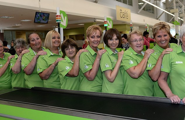 Driving change: Asda shop floor workers who are often paid less than those working in depots
