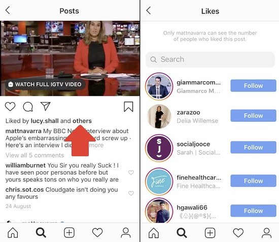 Instagram like counts experiment
