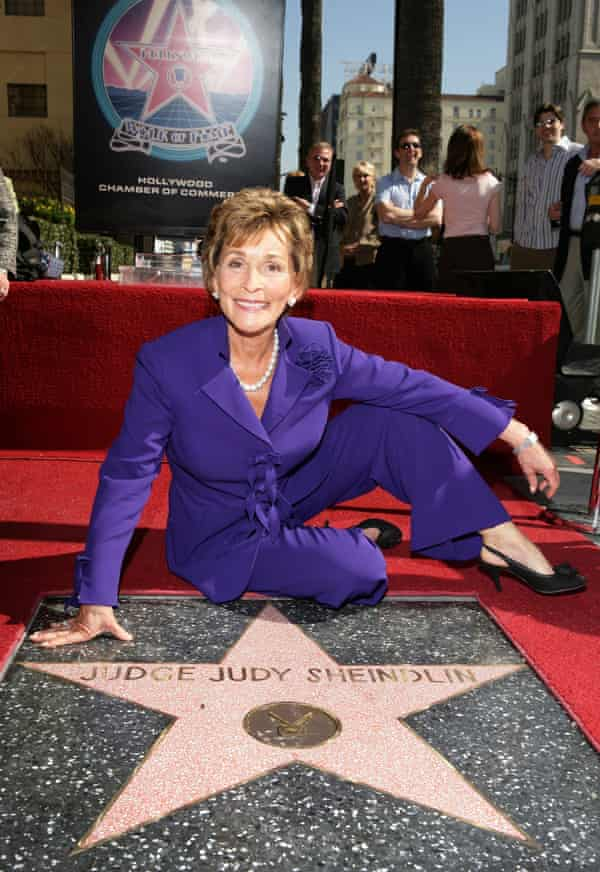 Getting a star on Hollywood Boulevard in 2006.