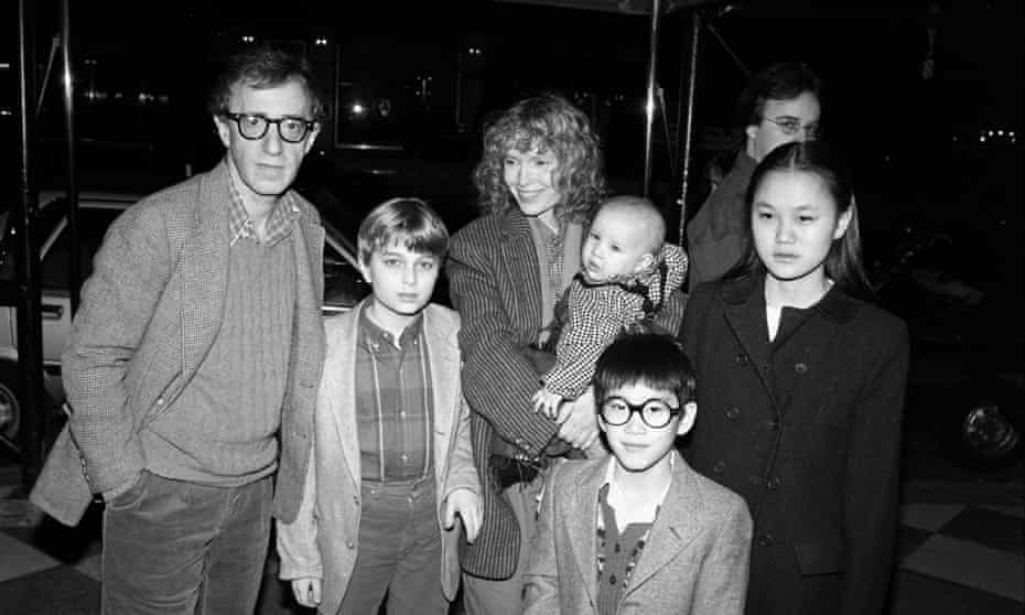 Allen, Farrow and family, including Soon-Yi Previn (far right) in 1986.