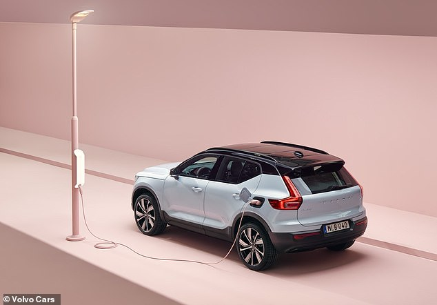 Volvo made the announcement on Tuesday morning, just hours ahead of the brand revealing its second all-electric model - a sister car to the XC40 Recharge (pictured)