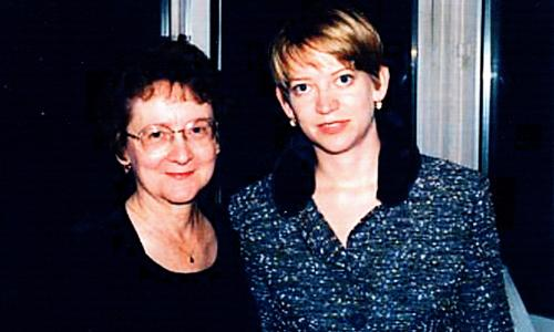Katherine Heiny with her mother on Heiny's wedding day in 1998.