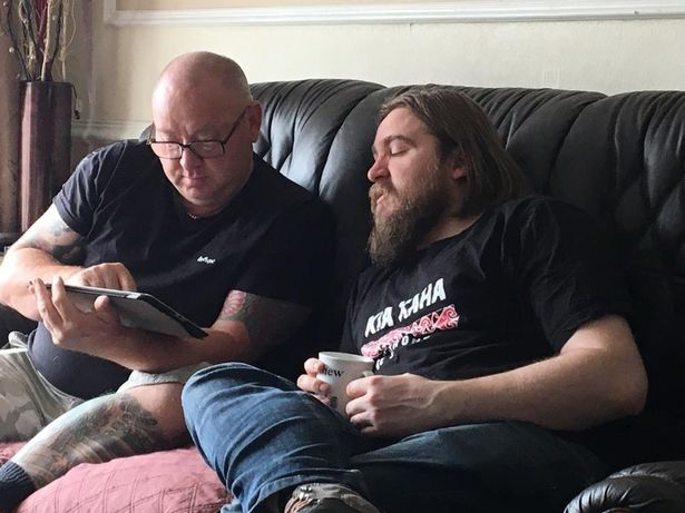 Ian Fowler (left), who died of Covid last year, with his son Matt Fowler, a co-founder of the Covid Bereaved Families for Justice