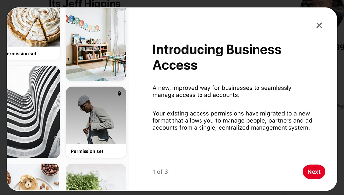 Pinterest Business Access