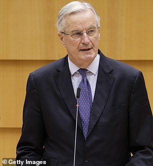 In his last speech representing the European Commission, Mr Barnier said the fight against Covid was 'more than speed of vaccination'