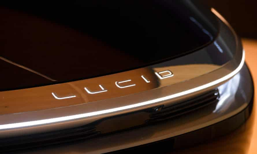 A Lucid Air Grand Touring electric luxury car