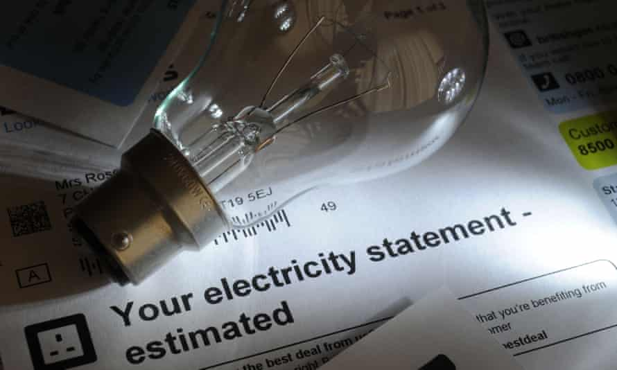 Lightbulb and an electricity bill