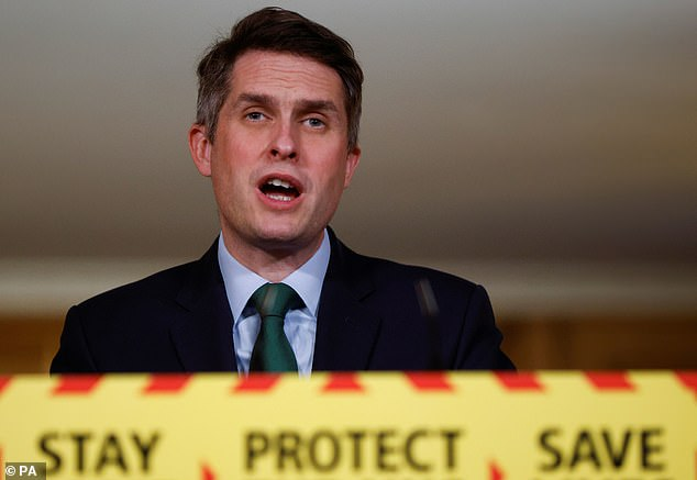 Education Secretary Gavin Williamson claimed there was 'little evidence' that the virus was transmitted in classrooms, but experts now say this is not the case