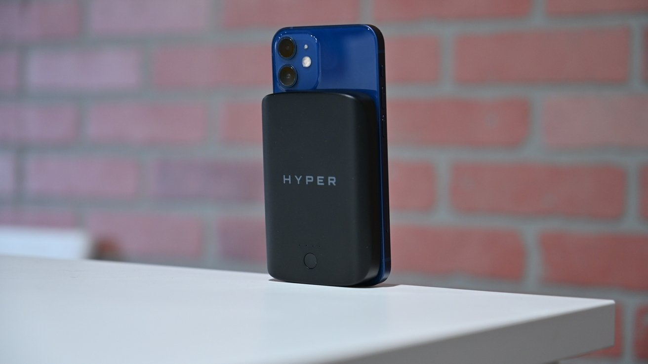 HyperJuice Magnetic Battery fits iPhone 12 mini as well