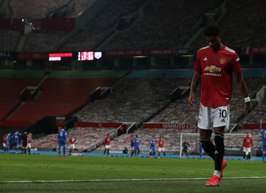 Rashford came off with an injury complaint