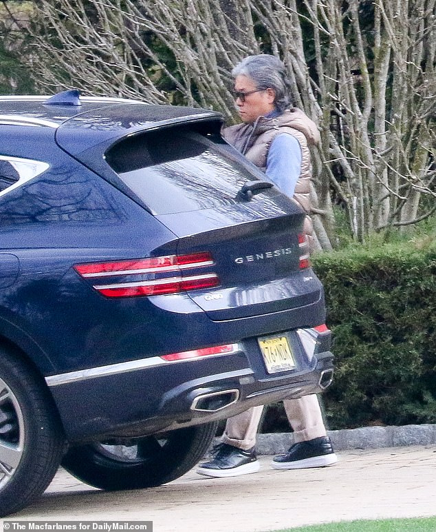 Bill Hwang, real name Sung Kook Hwang, was spotted outside his Tenafly, New Jersey home on Tuesday amid the fallout from the collapse of his New York-based firm Archegos Capital Management last month