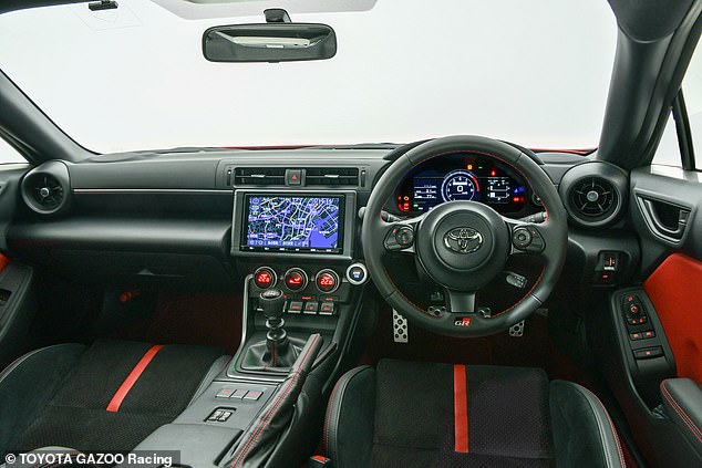 Out goes the relatively poor infotainment system in the GT86 and in its place is a new eight-inch touchscreen, which compliments a completely digital instrument cluster behind the steering wheel