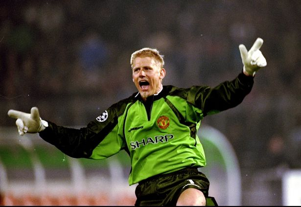 Manchester United keeper Peter Schmeichel starred in the treble-winning 1999 season