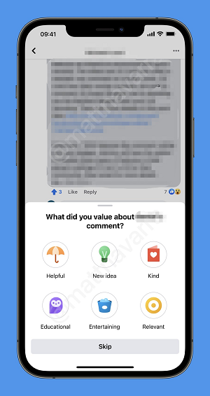 Facebook up and downvotes on group comments