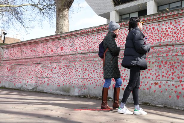 The national COVID-19 memorial wall in London