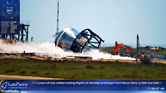Footage from YouTuber LabPadre emerged of the aftermath from SpaceX's intentional pressrure test. Eagle-eyed viewers spotted dog-like figure trotting through the nitrogen gas cloud