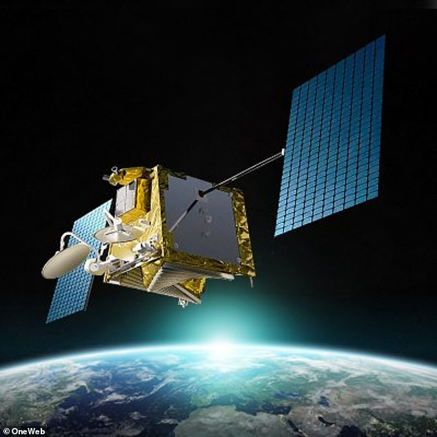 Two satellites from each firm came within 190 feet of each other in orbit April 4, which sparked several ¿red alerts¿ from the US Space Force¿s 18th Space Control Squadron. Pictured is a OneWeb satellite