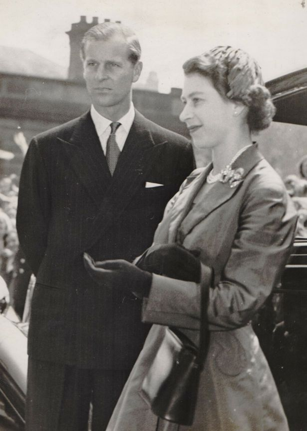 Her Majesty The Queen and Prince Philip the Duke of Edinburgh in Hamilton in June 1953