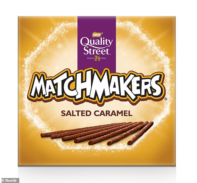 In contrast, of the seven colours tested, yellow and pink led people to expect the chocolates to taste the sweetest and least bitter. Pictured: a yellow-ish box of Matchmakers
