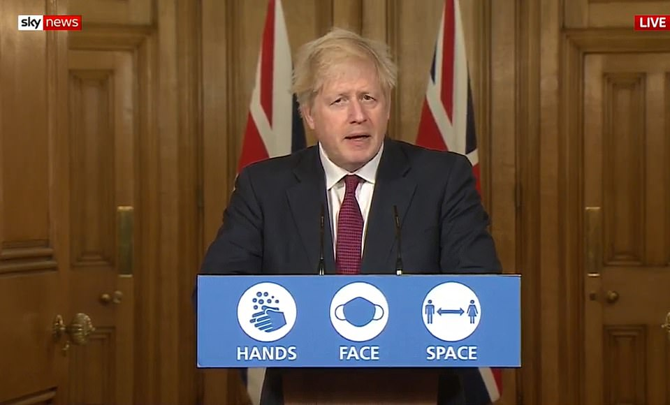Boris Johnson announces a new Tier 4 to tackle the Kent Covid variant in December, cancelling a family dinner on Christmas for millions across the country