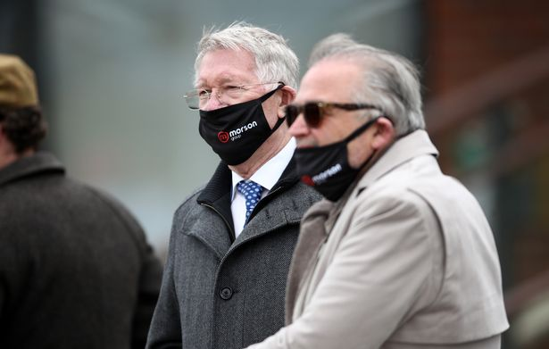 Sir Alex Ferguson (left) at Aintree