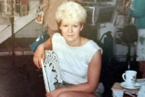 Nicki Simpson in the 1980's, when she was dating the man she would get engaged to 30 years later
