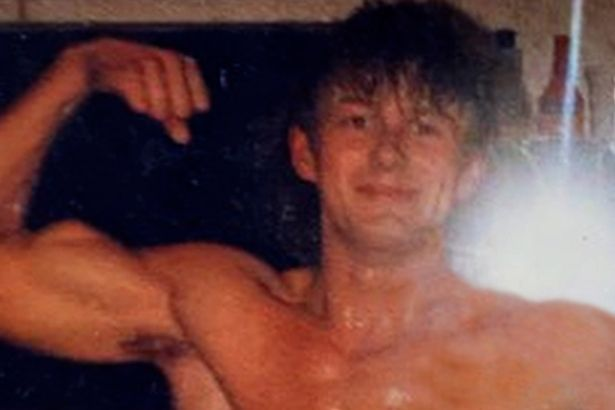 Suer-fit Barry pictured in the 1980s - when he dated Vicki first time around