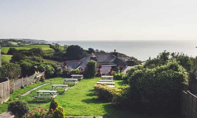Kings Arms, Strete view from beer garden