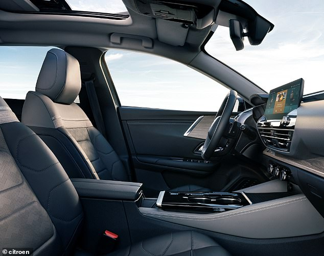 Anew tablet-style 12-inch HD touch screen with natural vocal recognition is the centrepiece of the cockpit, with driver and passenger cosseted in comfortable seats