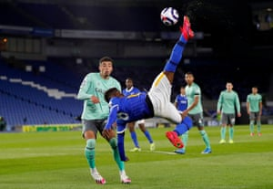Yves Bissouma with a spectacular effort.