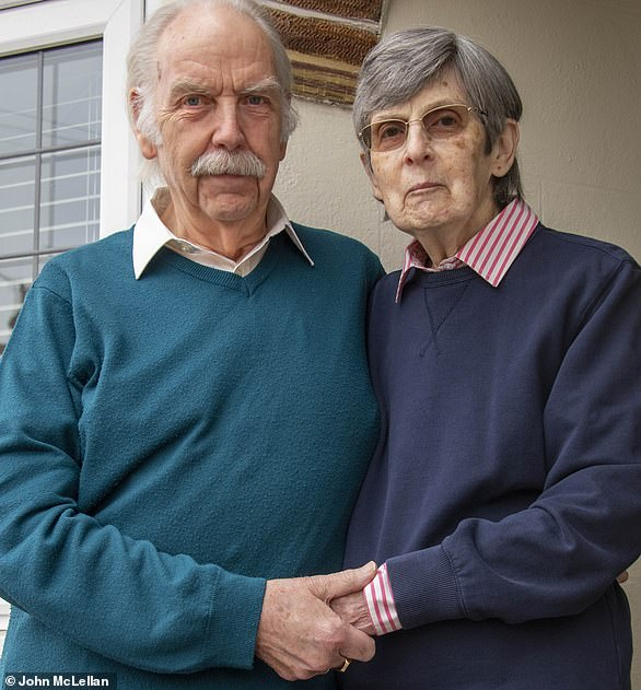 Offline: Jean and John Saltwill get their milk delivered for the last time next week